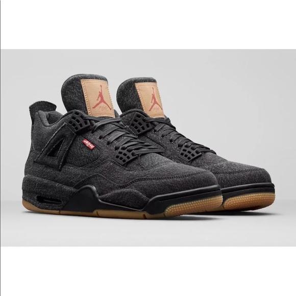8236f99274df Nike Air Jordan IV Retro 7 5.5Y Levis Black Denim